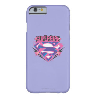 Supergirl Pink and Purple Grunge Logo Barely There iPhone 6 Case