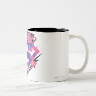 Supergirl Pink and Purple Grunge Logo Mug
