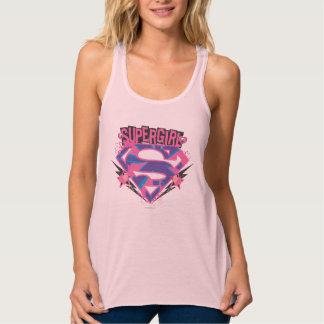 Supergirl Pink and Purple Grunge Logo Tank Top