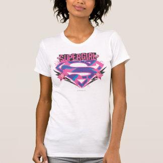 Supergirl Pink and Purple Grunge Logo Tshirts
