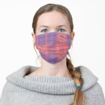 Supergirl Pink and Purple Pattern Adult Cloth Face Mask