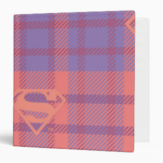 Supergirl Pink and Purple Pattern Binder