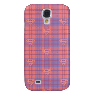 Supergirl Pink and Purple Pattern Galaxy S4 Covers