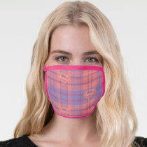 Supergirl Pink and Purple Pattern Face Mask