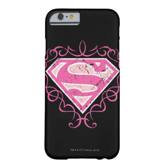 Supergirl Pink Colorful Logo Barely There iPhone 6 Case
