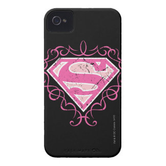 Supergirl Pink Colorful Logo iPhone 4 Case