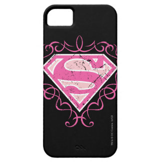 Supergirl Pink Colorful Logo iPhone SE/5/5s Case