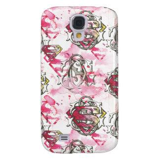 Supergirl Pink Ink Pattern Samsung Galaxy S4 Case