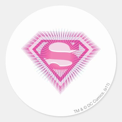 Supergirl Pink Logo Classic Round Sticker
