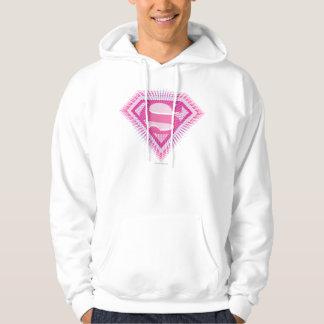 Supergirl Pink Logo Hoodie