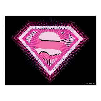 Supergirl Pink Logo Postcard