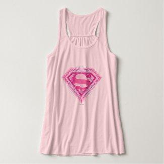 Supergirl Pink Logo Tank Top