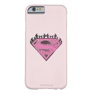 Supergirl Pink Logo with Flames Barely There iPhone 6 Case