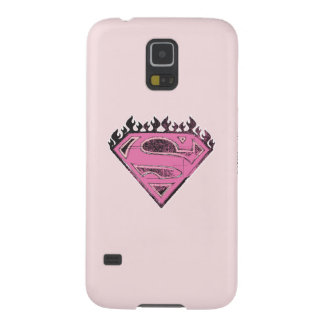 Supergirl Pink Logo with Flames Cases For Galaxy S5