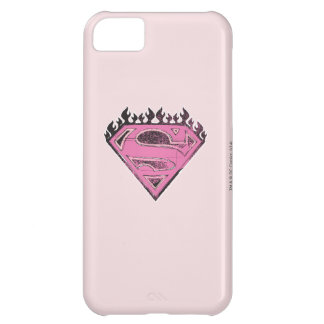 Supergirl Pink Logo with Flames Cover For iPhone 5C