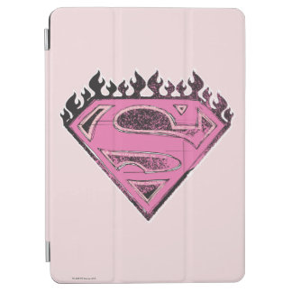 Supergirl Pink Logo with Flames iPad Air Cover