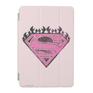 Supergirl Pink Logo with Flames iPad Mini Cover