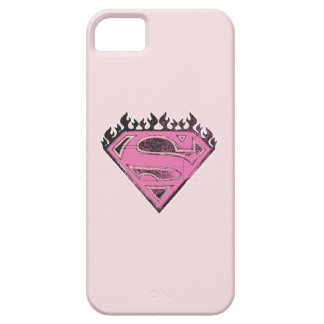 Supergirl Pink Logo with Flames iPhone SE/5/5s Case