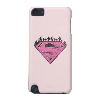 Supergirl Pink Logo with Flames iPod Touch (5th Generation) Cases