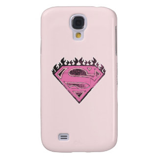 Supergirl Pink Logo with Flames Samsung S4 Case