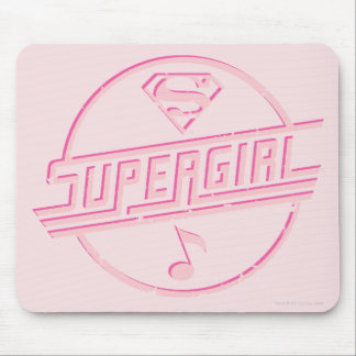 Supergirl Pink Music Note Mouse Pad