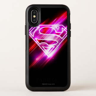 Supergirl Pink OtterBox Symmetry iPhone X Case