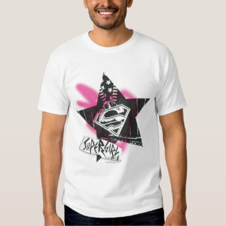 Supergirl Pink Spray Paint Star T Shirt