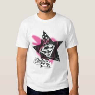 Supergirl Pink Spray Paint Star T Shirt