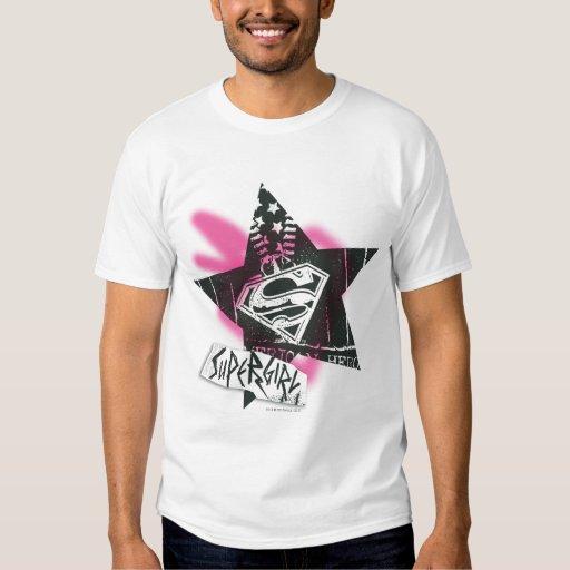 supergirl pink spray paint star t shirts zazzle. Black Bedroom Furniture Sets. Home Design Ideas