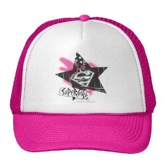 Supergirl Pink Spray Paint Star Trucker Hat