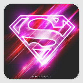 Supergirl Pink Square Sticker