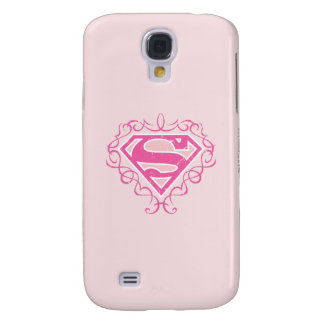 Supergirl Pink Stripes Galaxy S4 Cover