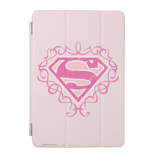 Supergirl Pink Stripes iPad Mini Cover