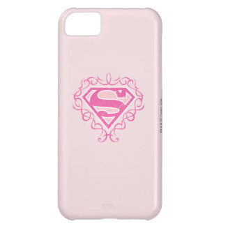 Supergirl Pink Stripes iPhone 5C Cover