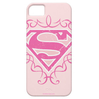 Supergirl Pink Stripes iPhone SE/5/5s Case