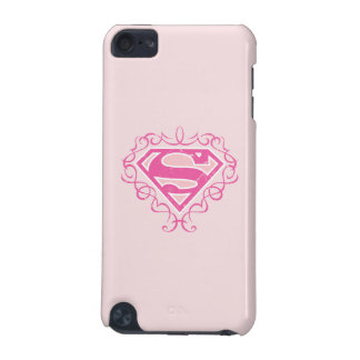 Supergirl Pink Stripes iPod Touch (5th Generation) Case