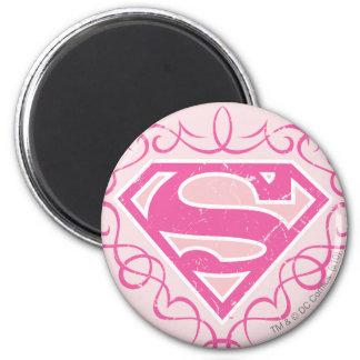 Supergirl Pink Stripes Magnet