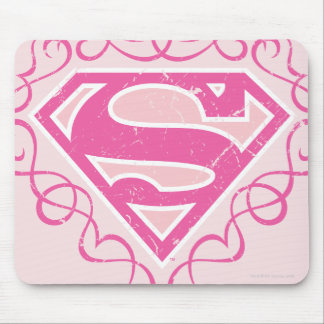 Supergirl Pink Stripes Mouse Pad
