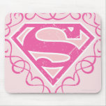 Supergirl Pink Stripes Mousepads