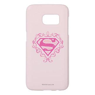 Supergirl Pink Stripes Samsung Galaxy S7 Case