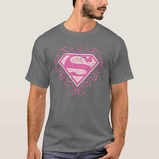 Supergirl Pink Stripes T-Shirt