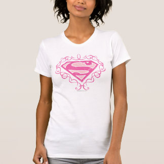 Supergirl Pink Stripes T Shirt