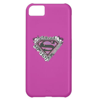 Supergirl Pins Logo Case For iPhone 5C