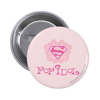 Supergirl Pop Idol Button