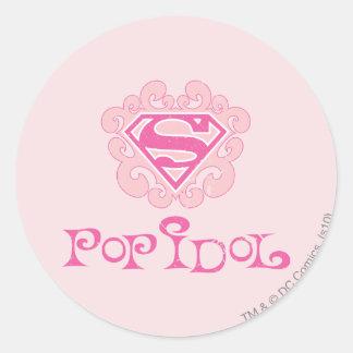 Supergirl Pop Idol Round Stickers