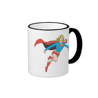 Supergirl Pose 1 Ringer Coffee Mug