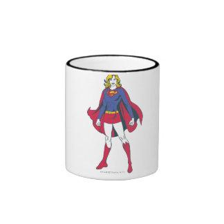 Supergirl Pose 2 Ringer Coffee Mug