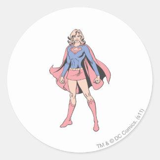 Supergirl Pose 3 Classic Round Sticker