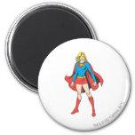 Supergirl Pose 5 2 Inch Round Magnet