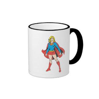 Supergirl Pose 5 Ringer Coffee Mug